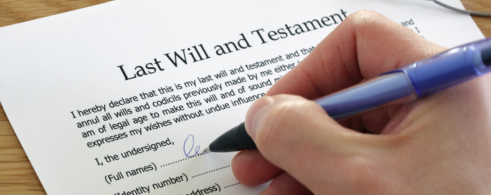 Remembering Fresh Start in your will